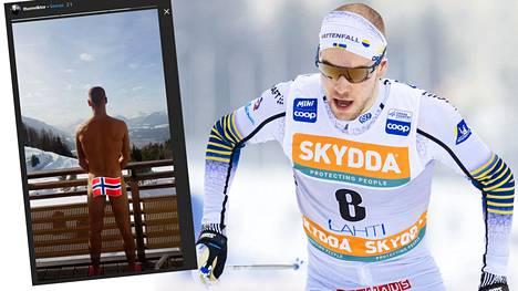 Hiihtäjä Viktor Thorn kuuluu Ruotsin maajoukkueeseen Seefeldin MM-kisoissa.