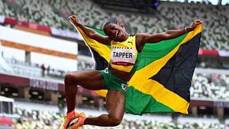 Philipp Unfriedin tähtiurheilija, jamaikalainen Megan Tapper saavutti Tokiossa olympiapronssia 100 metrin aitajuoksussa.