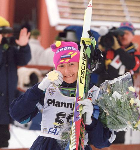 Jelena Välbe hurmasi hiihtoväkeä vuoteen 1998 jatkuneen urheilu-uransa aikana.