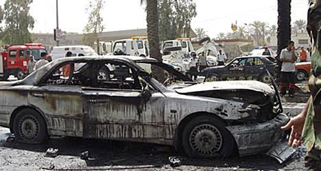 Pommi räjähti shiiaenemmistöisessä Karradan kaupunginosassa vilkkaalla ostosalueella.