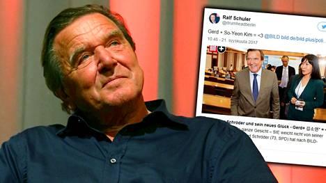 Saksan entisen liittokansleri Gerhard Schröderin uutisoidaan löytäneen rinnalleen uuden rakkaan.