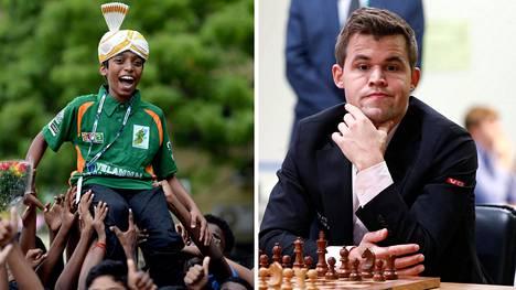 """15-vuotias intialaispoika Rameshbabu """"Pragg"""" Praggnanandhaa on kotipuolessaan Chennaissa jo melkoinen shakkisankari. Nyt hän pääsee pelaamaan maailmanmestaria, norjalaista Magnus Carlsenia vastaan."""