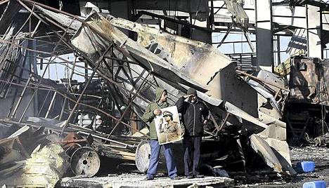 Boussettan laivastotukikohta oli yksi liittouman ilmaiskun kohteista Libyassa.