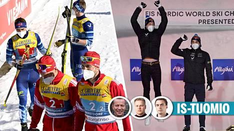 Suomen parisprinttikaksikko Joni Mäki–Ristomatti Hakola päihitti venäläiset kilpailijansa loppukirissä sunnuntaina.