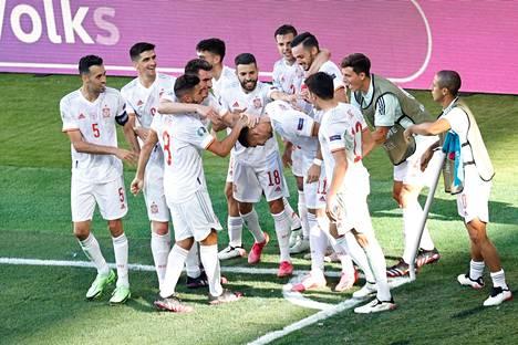 Espanja murskasi keskiviikkona Slovakian 5–0.