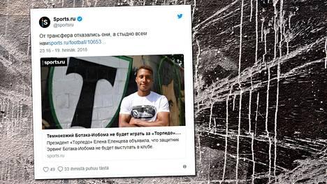 """Venäläinen futisseura joutui kovien rasismisyytösten kohteeksi – """"MM-kisat loppuivat, tervetuloa takaisin helvettiin"""""""