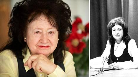 Eeva Lennon tekee edelleen juttuja. Nyt hän on Demokraatin freelance-kirjeenvaihtaja. Oikealla Eeva Lennon Lontoossa 1970.