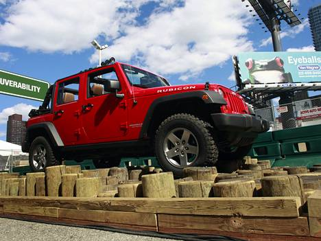 Jeep Wrangler sai testissä hyvän arvosanan.