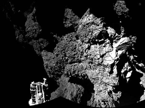 Philaen ottama kuva komeetan pinnalta.