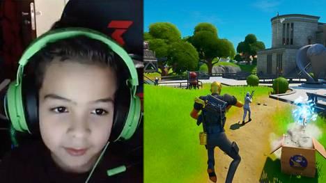 Fortnite-peli on suosittu peli erityisesti nuorten keskuudessa. Kuvakaappaus Zenonin Twitch-striimistä.