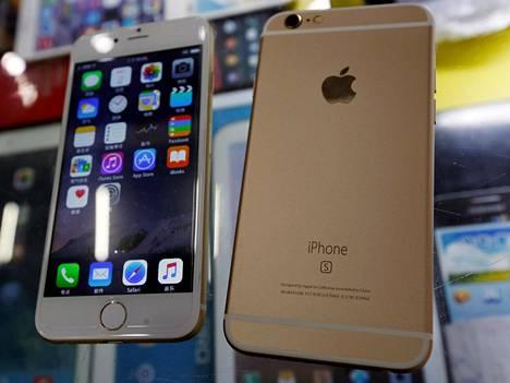 Tämä on se paremmin tunnettu iPhone. Kiinalaisoikeuden mukaan asia ei ole aivan selvä.