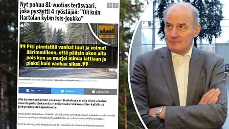 Itä-Suomen yliopiston rikos- ja prosessioikeuden professori Matti Tolvanen kommentoi Hartolassa tapahtunutta.