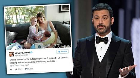 Jimmy Kimmel jakoi perheensä tarinan tv:ssä.