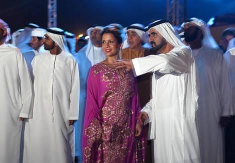Sheikki al-Maktoum ja prinsessa Haya al-Hussein.