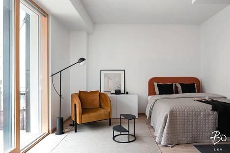 Tässä yksiössä on 36,5 neliötä. Saunallisen ja parvekkeellisen yksiön velaton myyntihinta on 419 750 euroa.