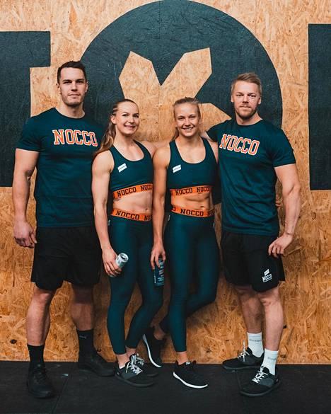 Team Finlandin muodostavat Joosua Eskelinen (vas.), Mirka Henriksson, Laura Isopoussu ja Petteri Peuronen.