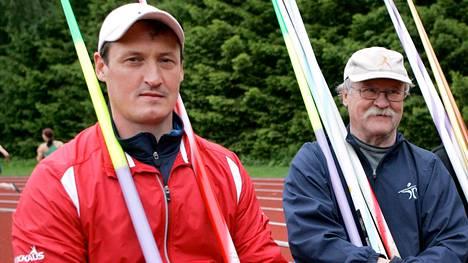 Kimmo ja Jorma Kinnunen olivat keihäänheitossa maailmanhuippuja. Kuva on vuodelta 2010.