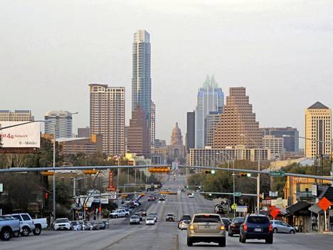 Austinin kaupunkikuva on eläväinen ja vilkas.