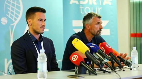 Goran Ivanisevic (kuvassa oikealla) kertoi saaneensa koronavirustartunnan.
