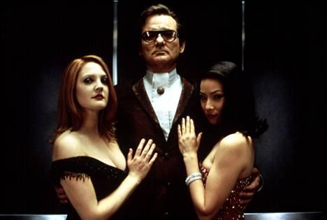 Drew Barrymore, Bill Murray ja Lucy Liu Charlien enkeleissä.