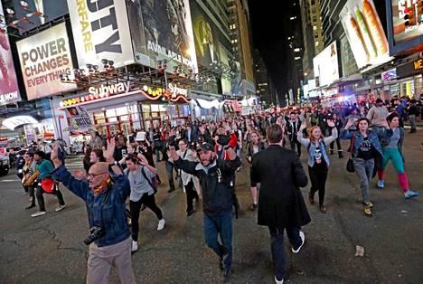 Tämä kuva on New Yorkin kaduilta.