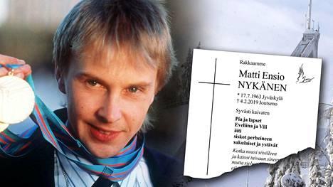 Matti Nykäsen kuolinilmoitus julkaistiin Keskisuomalaisessa sunnuntaina 3.3.