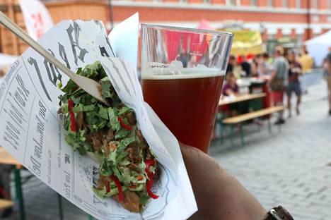Kasvisruoka sopii yhteen oluen kanssa, Kiukas ja Vastamäki vakuuttavat.