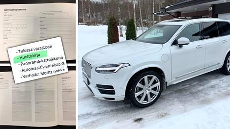 Noin 65 000 euroa maksaneen Volvo XC90 -henkilöauton kauppa purettiin: huoltokirja puuttui, mittarilukemassa oli vahvasti heittoa, tuontimaankin suhteen syntyi epäilyksiä...