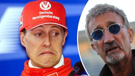 Michael Schumacher (vas.) ei ole Eddie Jordanin valinta kaikkien aikojen parhaaksi F1-kuskiksi.