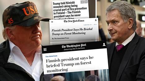 Presidentti Sauli Niinistö ei muista puhuneensa Donald Trumpin kanssa haravoinnista.