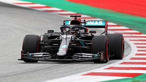 Lewis Hamilton oli harjoitusten nopein.