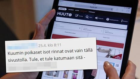Huuto.net joutui laajan pornoviestihyökkäyksen kohteeksi. Hyökkäys jatkuin vielä maanantai-iltapäivänä.