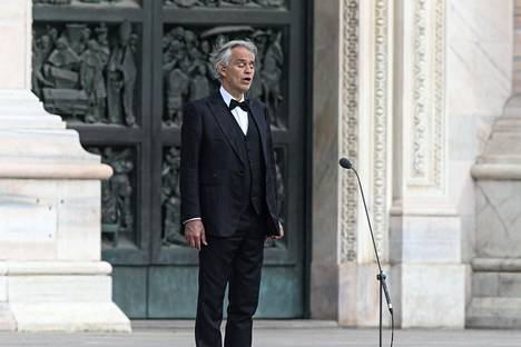 Andrea Bocelli on parantunut koronaviruksen aiheuttamasta taudista. Kuva on otettu 12.4.2020.