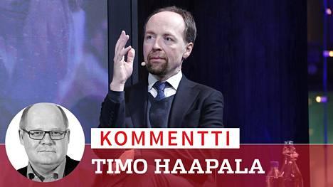 Jussi Halla-aho osallistui IS:n kuntavaalitenttiin 12. tammikuuta.