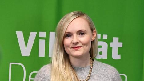 Vihreiden puheenjohtaja, sisäministeri Maria Ohisalo.