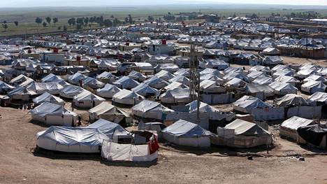 Yleiskuva al-Holin leiriltä Syyriasta 2. huhtikuuta 2019.