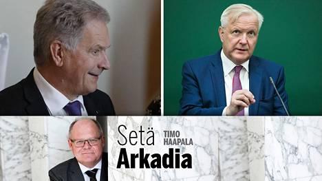 Mahtaisiko Olli Rehn olla Sauli Niinistön seuraaja?