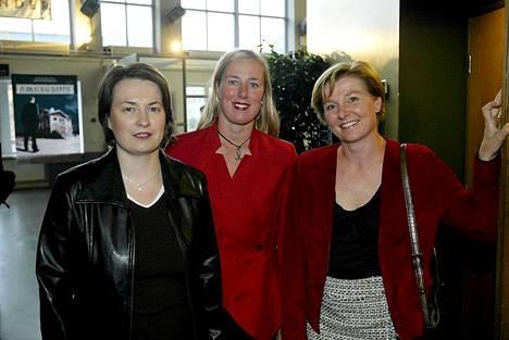Jutta Urpilainen (keskellä) vuonna 2004.