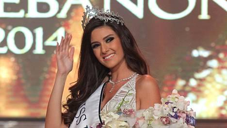 Miss Libanon Saly Greige on ongelmissa kuvan takia.