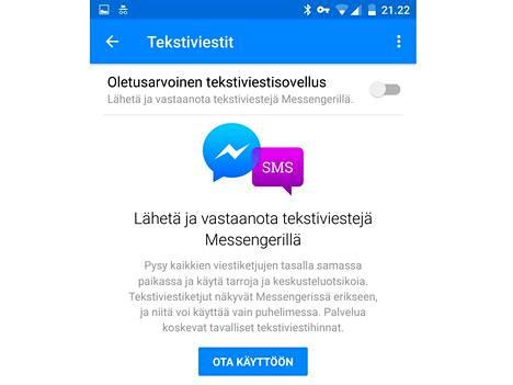 Päivityksen jälkeen Facebook Messenger haluaa tehdä itsestään puhelimessa käytettävän tekstiviestisovelluksen.
