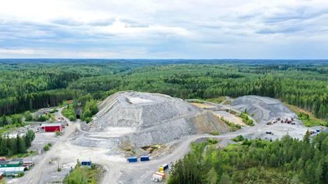 Oriveden kultakaivos kuvattuna ilmasta heinäkuussa 2019.