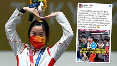 Yang Qian, 21, on olympialaisten tuplakultamitalisti – ja äitinsä mielestä poikaystävää vailla.
