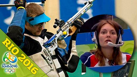 Matthew Emmonsille olympiafinaalin viimeinen laukaus on ollut yhtä tuskaa – jo kolme kertaa peräkkäin. Kuten pikkukuvasta näkyy, vaimo Katerina Emmons ei ollut uskoa vuoden 2008 Pekingin finaalin ratkaisua.