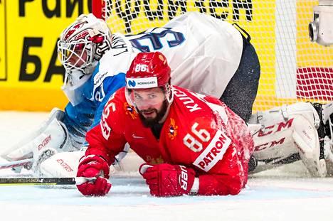 Kaudella 2018–19 NHL:n pistepörssin (128 pistettä) vienyt Nikita Kutsherov oli aseeton Suomea vastaan.