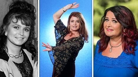 Meiju Suvas on tehnyt mittavan uran musiikkimaailmassa. Kuvat vuosilta 1992 (vas.), 1995 ja 2018.