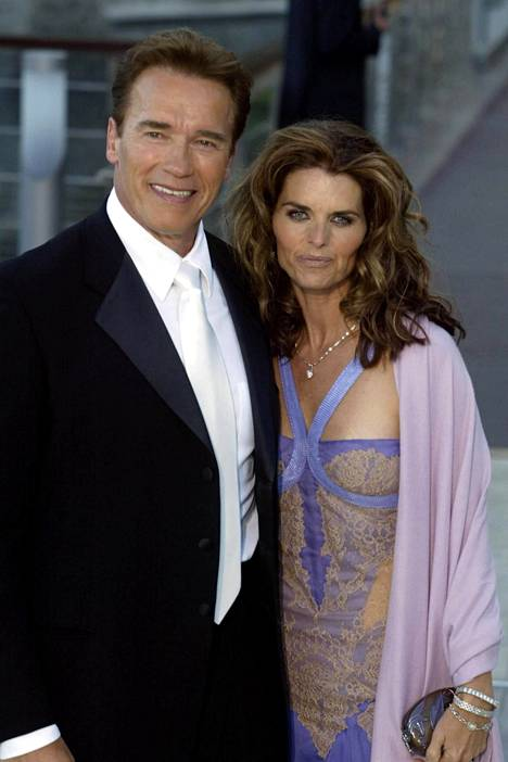 Arnold Schwarzenegger ja Maria Shriver vuonna 2003.
