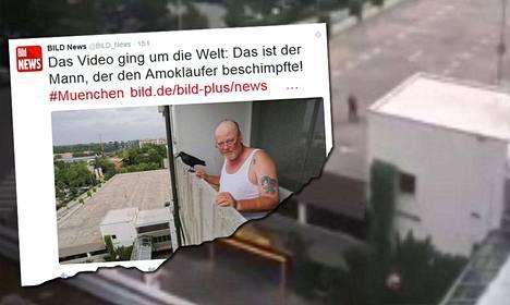 Saksalaiset tiedotusvälineet haastattelivat Thomas Salbeytä, jonka kiivas sanaharkka ampujan kanssa tallentui toisen silminnäkijän kuvaamalle videolle.