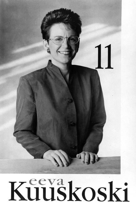 Eeva Kuuskoski lähti oli presidenttiehdokkaana vuonna 1994..