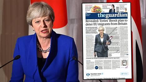 Britannian pääministeri Theresa May arkistokuvassa.