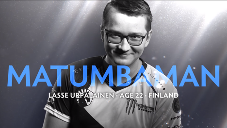 """Lasse """"MATUMBAMAN"""" Urpalainen on maailman neljänneksi eniten palkintorahaa voittanut kilpapelaaja."""